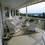 Enjoy a drink on the porch before dinner