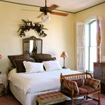 The room is large and comfortable, with charming antique furniture and details. It was just was