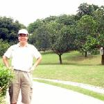 Photo taken in front of jackfruit orchard.