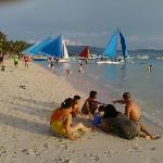 Outrigger sailing boats at Boracay