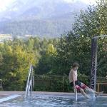 Freibad mit Alpenblick
