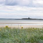 Skerries Beach with one of the Viking islands