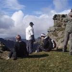 On the summit of Goatfell