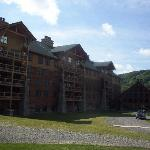 The backside of the lodge from the pool!