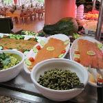 buffet con salmone