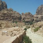 Roman ruins inside Petra
