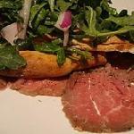 Beef carpaccio balsamic, arugula