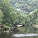 view from jubilee bridge overlooking the river derwent