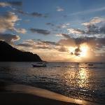 Sunset on Castara Beach