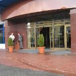 Eingang vom Hotel Golebiewski, Bialystok