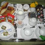 Breakfast delivered to your room each morning ;)