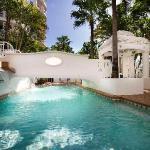 Swim in the outdoor & indoor pools