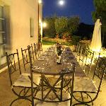 Table set for outdoor dining
