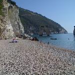 spiaggia a metà agosto