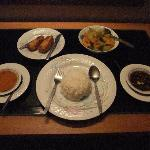 Room service dinner for 3000 kyats