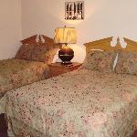 Double beds in one bedroom
