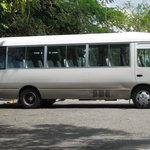 A picture of Uton's one bus...