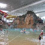 Wave pool and 2 of the slides inside