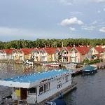 Blick auf die Hafenhäuser