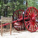 Collier Logging Museum - restored high wheels (original log skidders)