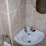 Lavabo dans salle de douche