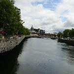 The River Liffey-about 12 minutes walk away.