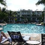 Hyatt Winward Pointe relaxing by the huge pool