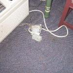 exposed junction boxes on carpet