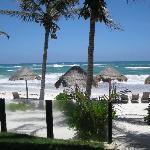 la plage vu de l'hotel