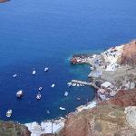 Fishing village below Oia.