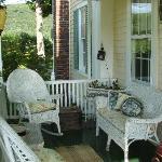 Serene guest porch