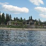 view of hotel McCall from the lake