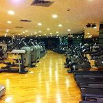 The fitness centre - empty apart from me
