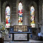 INTERIOR OF ST MARY'S CHURCH ON HOLY ISLAND WHERE DAILY SERVICES ARE HELD