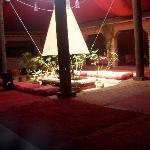 The reception restuarant area