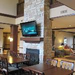 One of two flat screen TV's in great room area