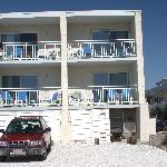 Beach front balconies. Ours was 2nd floor, 2nd in.