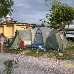 Baia Verde campsite superior pitch