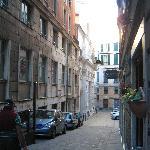 Street leading to San Siro