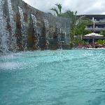 waterfall in pool