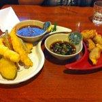 Tempura and dumplings