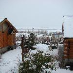 Las cabañas con nieve..