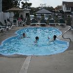 Kids noted pool was small, I noted the ocean was big and accross the street!