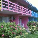 Colorful hotel and grounds