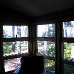 View from deluxe 1 bedroom cabin porch