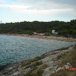 la spiaggia  vista dal punto più alto del v