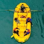Bridge shot rafting H2O Patagonia