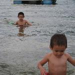 kids in lake