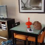 table and tv