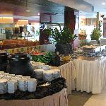 Buffet setting at the Charcoal BBQ & Grill